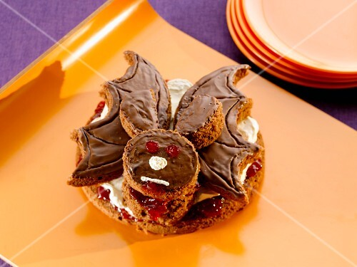 A bat cake for Halloween