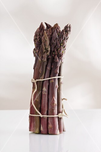 A bunch of purple asparagus
