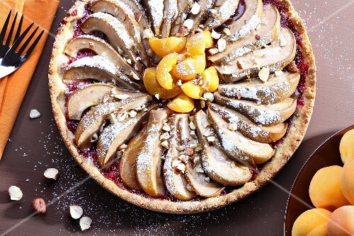 A pear and apricot cake