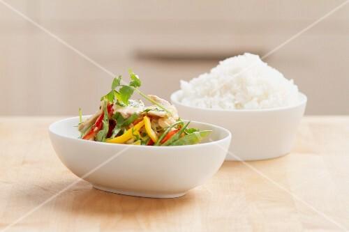 Hähnchen-Curry mit Reis