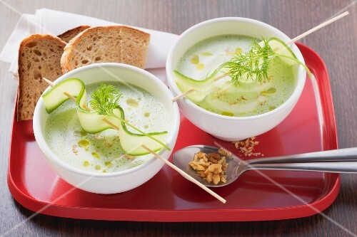 Cold cucumber soup from Bulgaria
