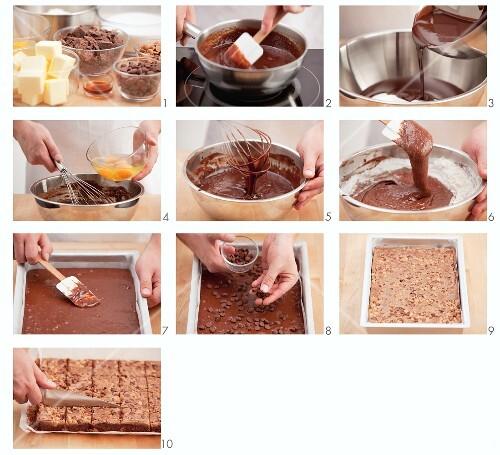Brownies being made