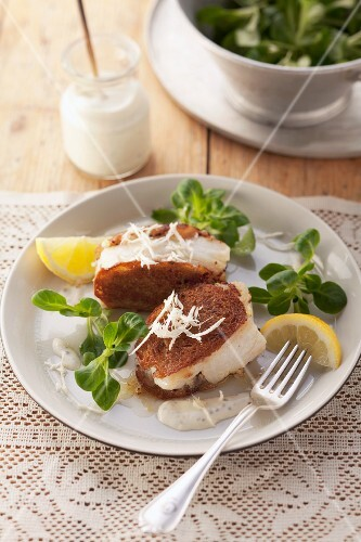 Cod with a crispy bread coating