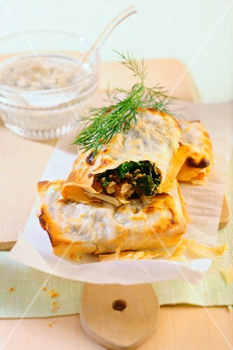 Green cabbage parcels