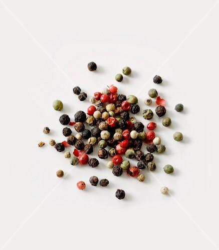 Multicoloured peppercorns