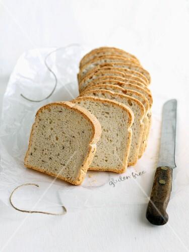 Gluten Free Bread with Flax Seed; Sliced