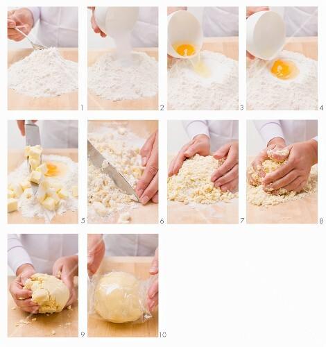Shortbread dough being made
