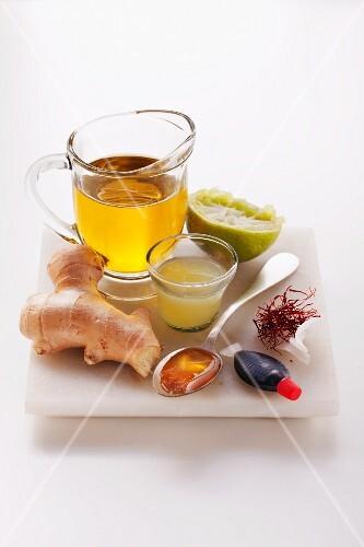 Zutaten für Ingwer-Limetten-Marinade