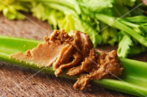 Gluten Free Snack; All Natural Chunky Peanut Butter on Celery