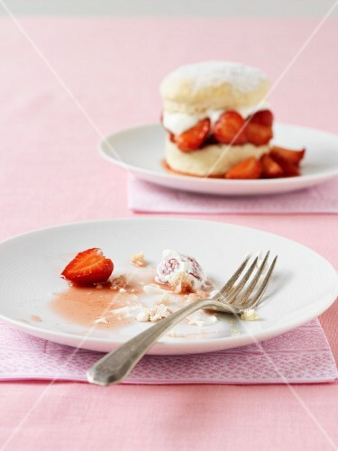 Strawberry shortcake, eaten up
