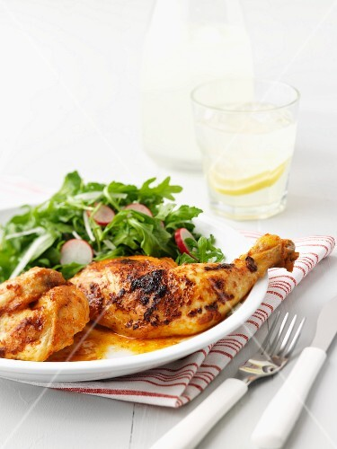 Peri peri chicken with a side salad