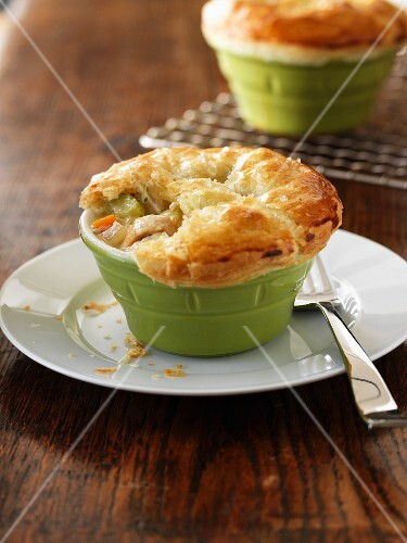 Pot pies with vegetables