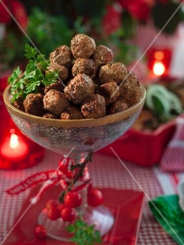 Köttbullar (Swedish meatballs) for Christmas dinner