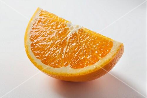 A wedge of orange
