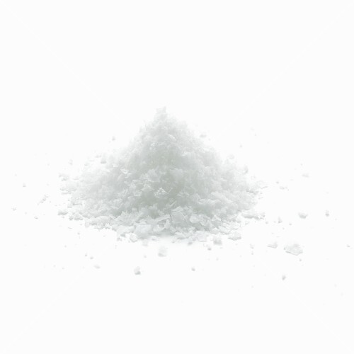 A mound of salt flakes