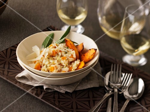 Pumpkin risotto with sage and parmesan
