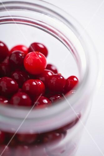 A jar of cranberries