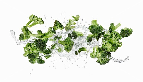 Broccoli and a splash of water
