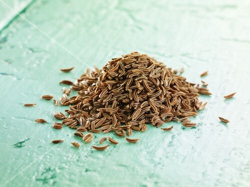 A pile of cumin seeds