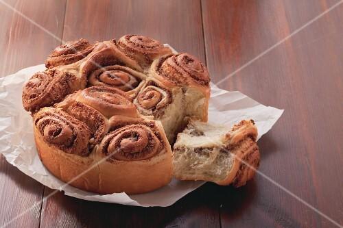 Rosenkuchen ('Rose cake') with nut filling