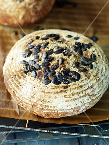 Fresh pumpkin seed bread