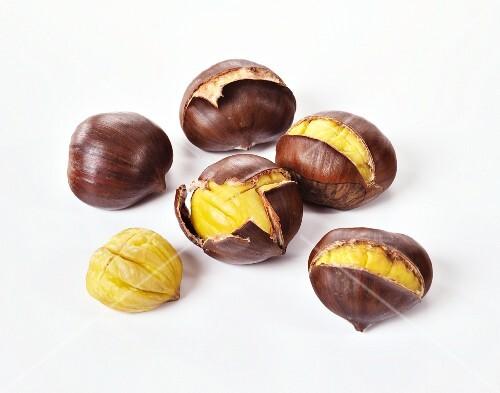 Many Roasted Chestnuts, One Split Open