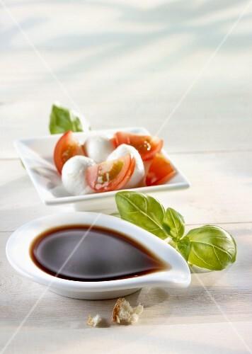 Balsamic vinegar and Caprese salad
