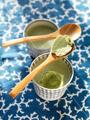 Matcha tea ice cream (Japan)