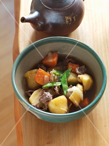 Nikijaga (potato casserole with beef, Japan)