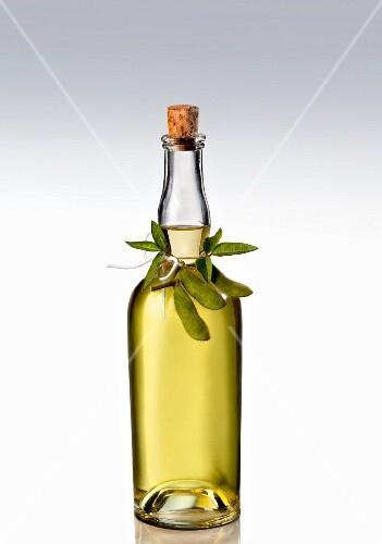 A bottle of soy oil