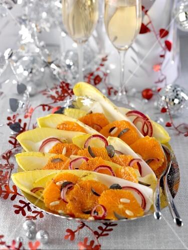 Chicory and orange salad