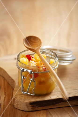 Pineapple chutney with chili