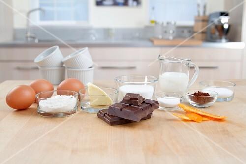 Zutaten für Schokoladensouffle