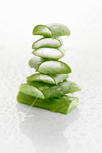 Stacked pieces of aloe vera