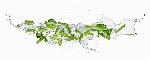 Aloe vera and water