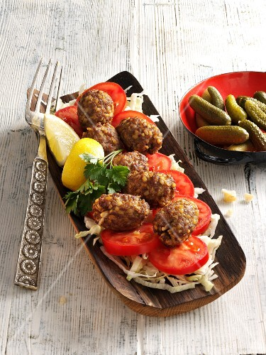 Stuffed lamb meatballs
