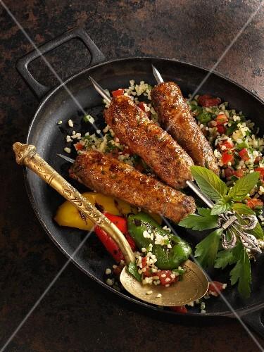 Grilled Lebanese kofta