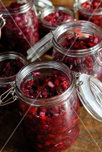 Preserved red beets