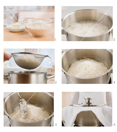 Rice steaming