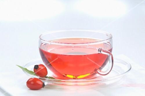 Rose hip tea and rose hip