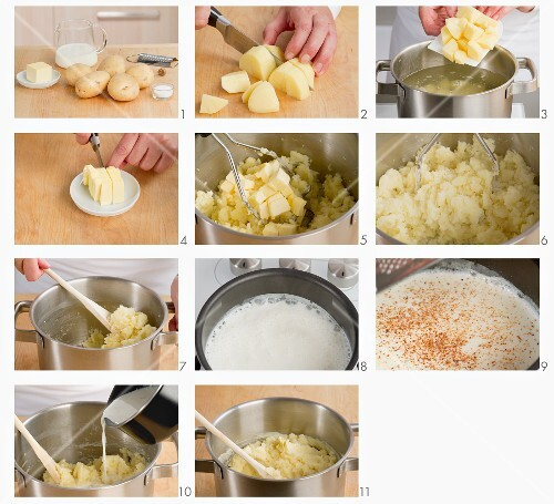 Making mashed potato