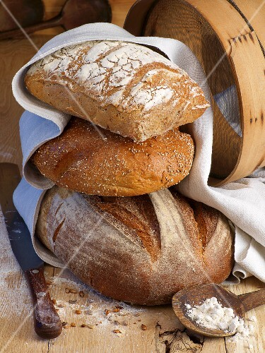 A stack of loaves