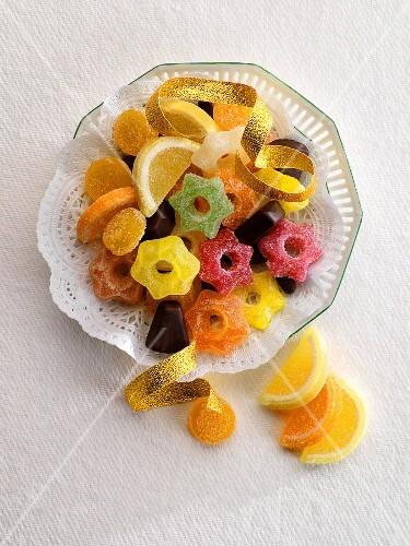 A plate of sweets