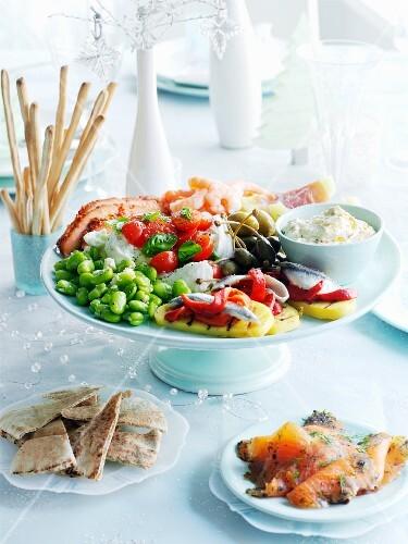 Mezze (Arabic appetizer platter) for Christmas