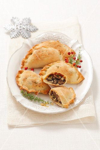 Lentil and mushroom pasties for Christmas