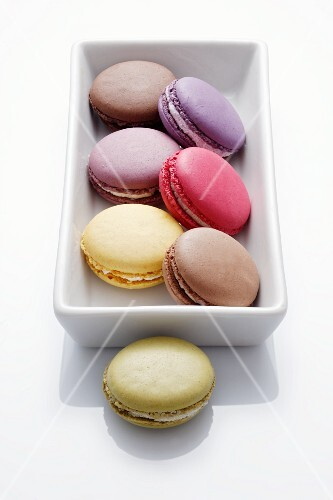Macaroons in a rectangular dish