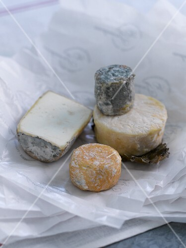 Four different types of goat's cheese