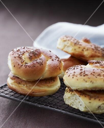 Caraway seed bread rolls