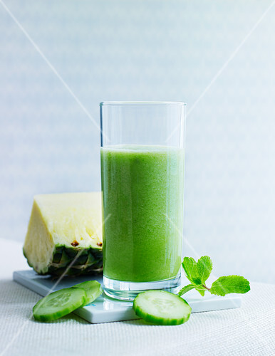 Pineapple and cucumber juice