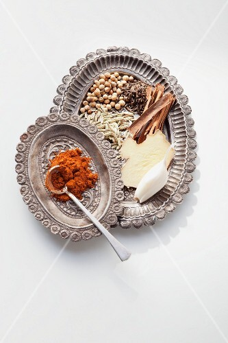 Ingredients for tabil (Tunisian spice mixture)